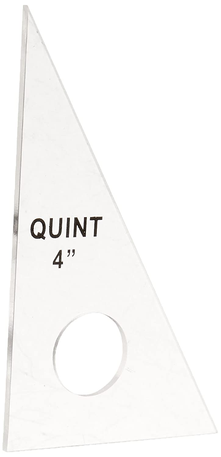 4 Quint Measuring Systems 30//60 Professional Plain Edge Clear Triangle