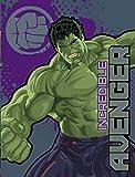 Incredible Hulk Plush Throw Blanket the Avengers 46 X 60 Age of Ultron