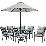 Outdoor Dining Sets Hanover Lavallette 7 Piece Outdoor Dining Set with Table Umbrella and Base