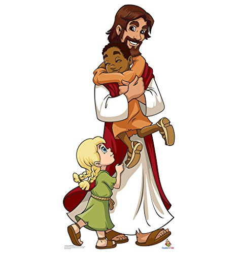 Jesus with Children - Creative for Kids - Advanced Graphics Life Size Cardboard Standup by Advanced Graphics