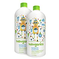 Babyganics Foaming Dish and Bottle Soap Refill, Fragrance Free, 32oz Bottle (...