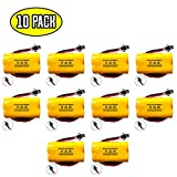 (10 pack) Exit Sign Emergency Light NiCad Battery 3.6v 900mAh Replacement Lithonia ELB B001 ELBB001 ELB-B001 Unitech AA900MAH Lithonia EU2 LED Interstate ANIC1566 Unitech 0253799
