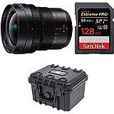 Panasonic 8-18mm, F2.8-4.0 H-E08018 F/2.8-22 Fixed Zoom + SanDisk 128GB Extreme PRO +Weatherproof Hard Case