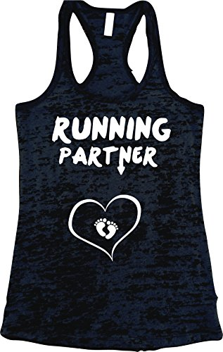 Running Partner Burnout Tank Top. Women's Workout Tank Top. Gym Tank Top (L, (Pregancy Workout Clothes)