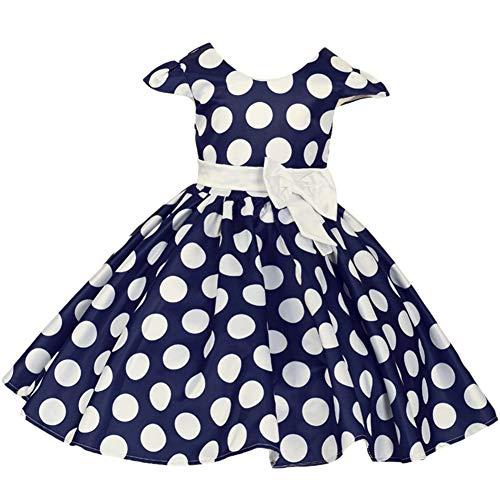 60f8de2cc IWEMEK Toddler Girls Polka Dots Cap Sleeves Christmas Birthday Princess  Skirt Bow Wedding Pageant Cosplay Fancy