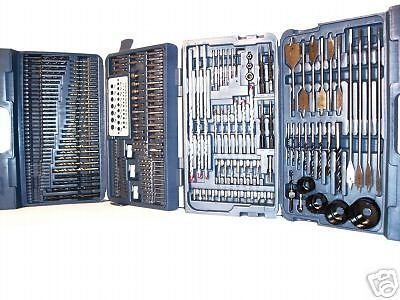 204 PC Combination Drill Bit set HOLE SAW TORX POZI