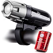 Cycle Torch Shark 550R USB Rechargeable Bike Light Set,...