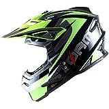 1Storm Adult Motocross Helmet BMX MX ATV Dirt Bike Helmet Racing Style HF801; Sonic Yellow