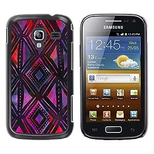 LECELL--Funda protectora / Cubierta / Piel For Samsung Galaxy Ace 2 I8160 Ace II X S7560M -- Pattern Purple Black Art Hand --
