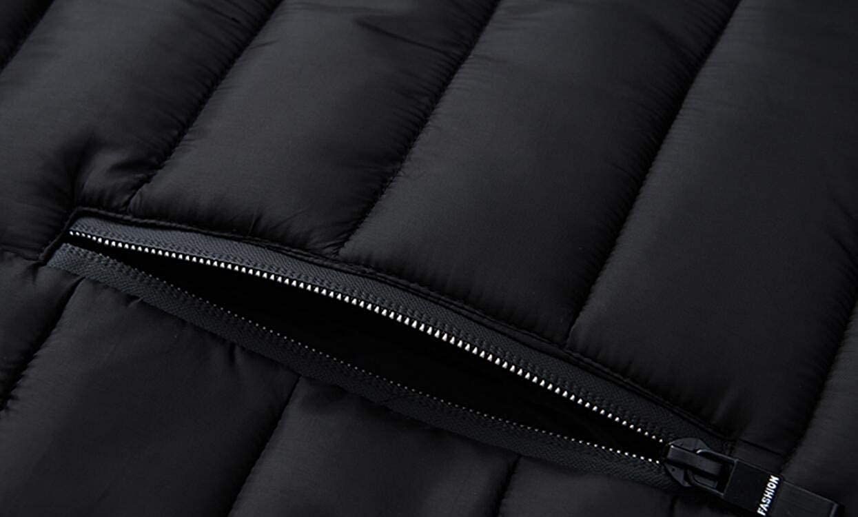 Yayu Mens Winter Fleece Slim Outdoor Fashion Quilted Thick Down Jacket Coat