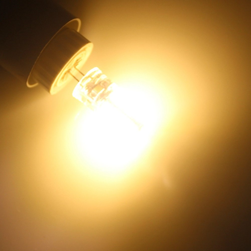 Warm White//Cool White Light Lamp,AC200-240V,10 Pcs Mafamille 3W G4 LED Light Bulbs,T 64 SMD 3014 200-220 Lm Light Bulb Color : Warm White