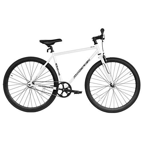 Micargi RD818-53-WHI-BK Unisex Road Bike44; White & Black by Micargi