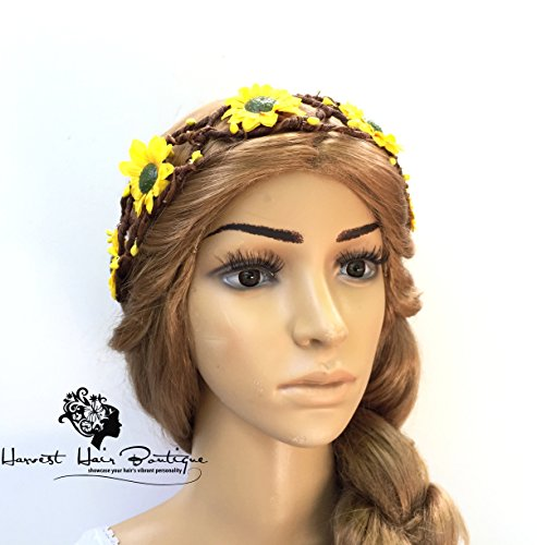 Sunflower Festival Hair Crown // Yellow Sunflower Floral Wreath // Fun, flirty festival headpiece // Bohemian // Hippie Chic