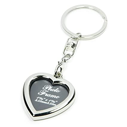 Amazon.com - Small Picture Frame Key Chain Ornament (Heart-Shaped) -