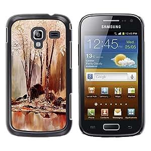 TopCaseStore / la caja del caucho duro de la cubierta de protección de la piel - Nature Beautiful Forrest Green 64 - Samsung Galaxy Ace 2 I8160 Ace II X S7560M