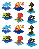 Quest Toys Finding Seas Animals Fish Mini Building Bricks Minifigure Toy (Set of 12)