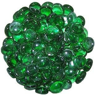 1 Kilo of Decorative GREEN Round Glass Pebbles 15-20mm STONED®