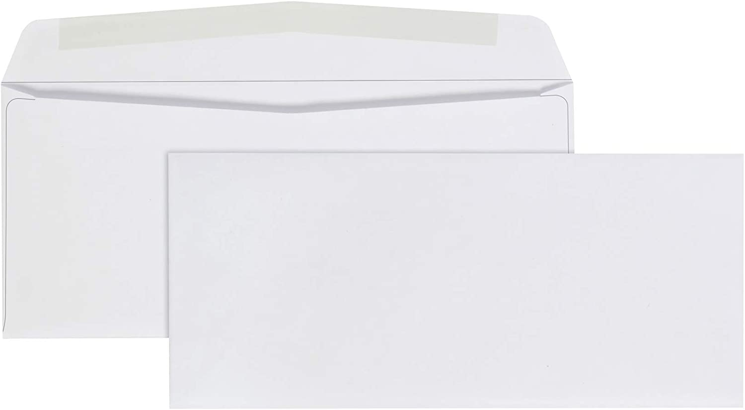 AmazonBasics #9 Envelopes with Gummed Seal, White, 500-Pack