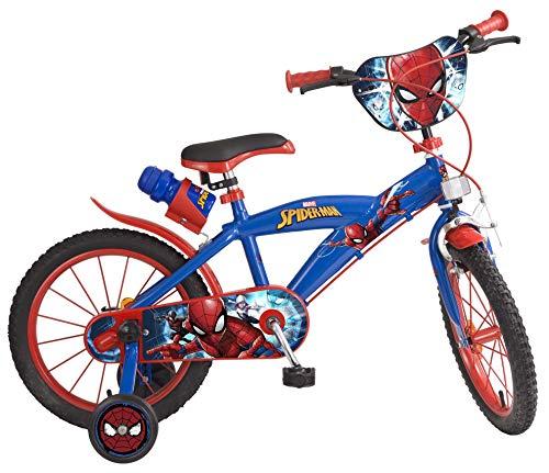 Toimsa 876 Bike Boy – Spiderman – 5 tot 8 jaar, 16 inch, Rood