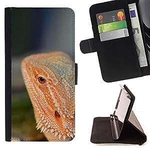 Momo Phone Case / Flip Funda de Cuero Case Cover - Lagarto Rojo Selva Tropical Naturaleza Animal - Samsung Galaxy S6 Edge Plus / S6 Edge+ G928