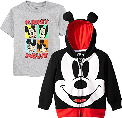 Disney Toddler Boys' Mickey Mouse Costume Hoodie, Mickey Face Set, 3T