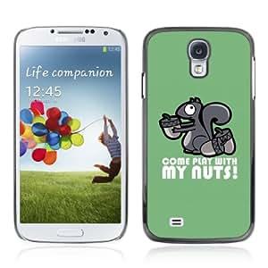 CQ Tech Phone Accessory: Carcasa Trasera Rigida Aluminio Para Samsung Galaxy S4 i9500 - Funny Play With My Nunts Squirrel