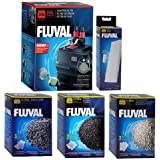 Fluval 306 A212 Filter w/Foam, Carbon, Ammonia Remover & Zeo-Carb 3mo