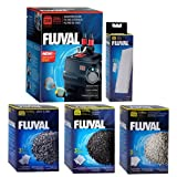 Fluval 306 A212 Filter w/ Foam, Carbon, Ammonia Remover & Zeo-Carb 3mo