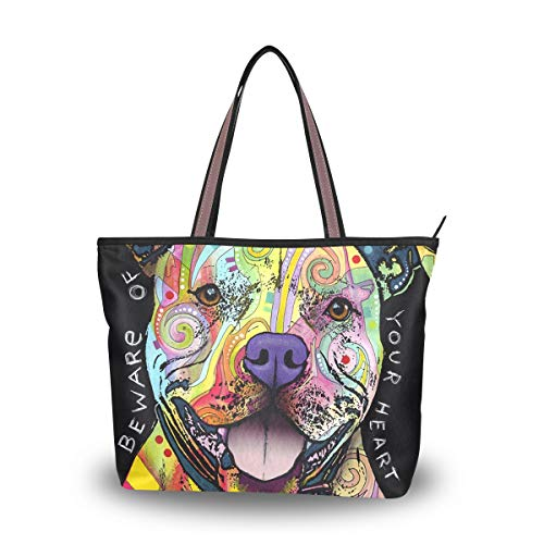 (Women Large Tote Top Handle Shoulder Bags The Pit Bulls Steal Your Heart Ladies Handbag For Women Girl)