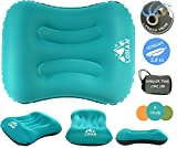 Inflatable Camping Pillow for Sleeping/Backpacking Pillow Ultralight, Self Inflating Pillow, Hiking with Neck & Lumber Support (Smart Valve)