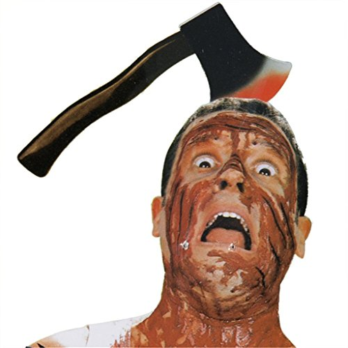 HMILYDYK Halloween Scary Props Horror Party Prank Hair Penetrating Headbands Devil Fancy Dress Costume Party Accessories