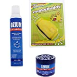 Smokebuddy Yellow Original Personal Air Purifier with Ozium 8oz Aersol and Ozium 4.5oz Gel