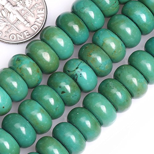 GEM-inside Gemstone Loose Beads Dyed Old Turquoise 5X10mm Roundelle Shape Energy Stone Power Beads For Jewelry Making ()