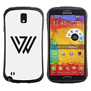 LASTONE PHONE CASE / Suave Silicona Caso Carcasa de Caucho Funda para Samsung Note 3 N9000 N9002 N9005 / Triangle Mark