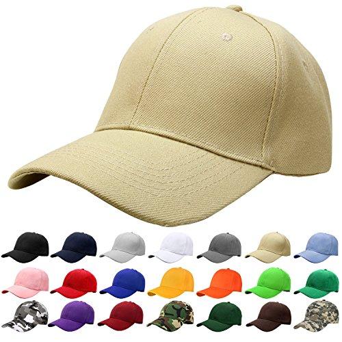 Falari Baseball Cap Adjustable Size Solid Color G001-04-Khaki