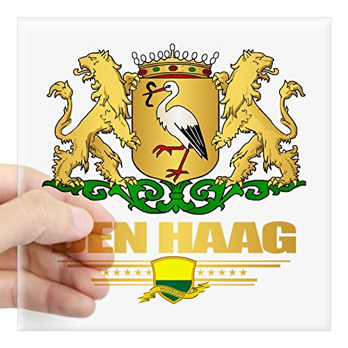 CafePress - Den Haag Sticker - Square Bumper Sticker Car Decal, 3