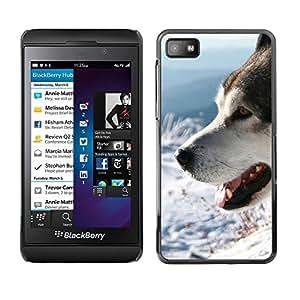 TopCaseStore / la caja del caucho duro de la cubierta de protección de la piel - Siberian Husky Alaskan Malamute Winter Dog - Blackberry Z10