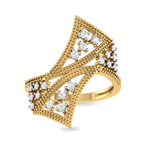 PC Jeweller The Dottie 22KT Yellow Gold Rings