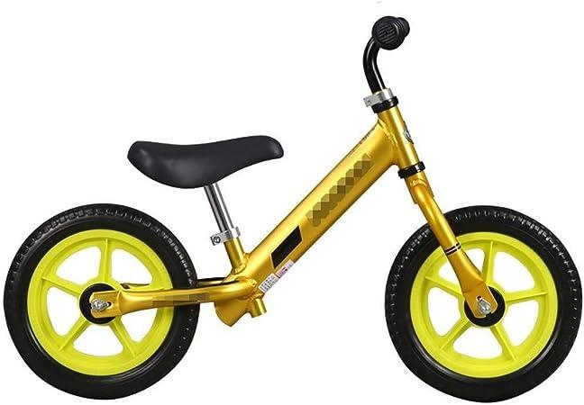 Bicicleta Sin Pedales Ultraligera Equilibrio para niños Bicicleta para niños Aprendizaje seguro Bicicleta Metal Caminar Correr Bicicletas Niños Chicas Regalo de cumpleaños Entrenamiento Altura del asi: Amazon.es: Hogar