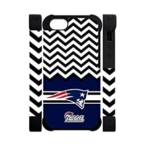 Hoomin White Black Chevron New England Patriots iPhone 5 Cell Phone Cases Cover Popular Gifts(Dual protective)