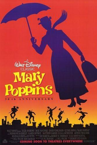 Mary Poppins de silueta de museo de alta calidad de impresión de ...