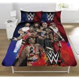 Wwe Super 7 Uk Double Us Full Duvet Cover And Pillowcase Set