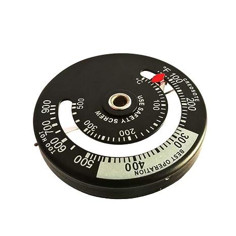 KOBWA - Termómetro magnético para Estufa y Estufa de leña, de Aluminio, para Uso