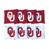 Victory Tailgate NCAA Regulation Cornhole Game Bag Set (8 Bags Included, Corn-Filled) (Oklahoma Sooners)