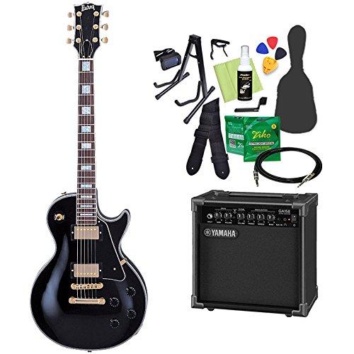 Burny SRLC55 Black 初心者14点セット 【ヤマハアンプ付き】 レスポール エレキギター バーニー   B07CNS5D4G
