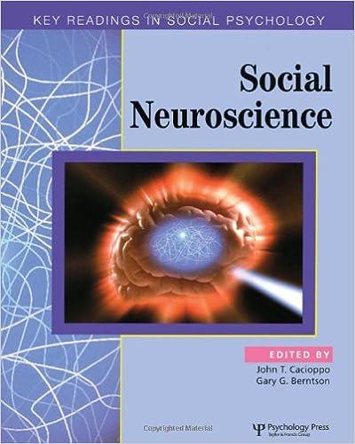 social neuroscience cacioppo john t berntson gary g