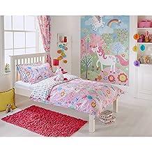 Riva Home Unicorn Childrens/Kids Duvet Set (Twin) (Pink)