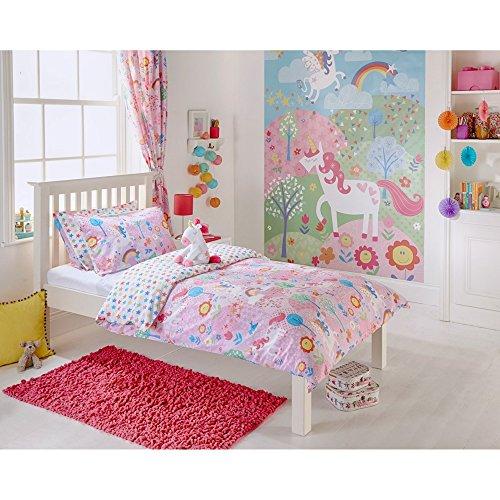 Review Riva Home Unicorn Childrens/Kids Duvet/Comforter Set (Toddler (47.2 x 59in)) (Pink)