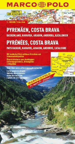 MARCO POLO Karte Pyrenäen, Costa Brava (MARCO POLO Karten 1:300.000)
