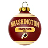 Washington Redskins Official NFL 2014 Christmas Glass Ball Ornament by Forever Collectibles 691015